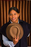 Close up portrait of young indigenous latin american man Royalty Free Stock Photo