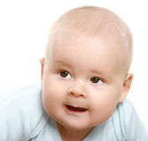 Close-up portrait of young little baby boy royalty free stock photo