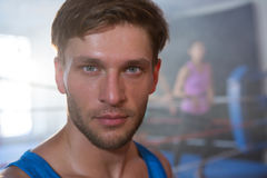Close-up portrait of young male athlete Royalty Free Stock Photography