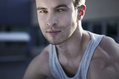 Сlose-up portrait of young male model Stock Image