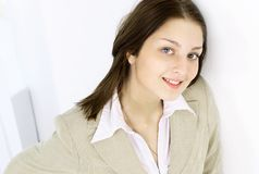 Close up.portrait of a young office worker Royalty Free Stock Photography