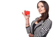 Close-up portrait of young smiling business woman Royalty Free Stock Image