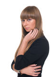 Close up portrait of young sure business woman Stock Image