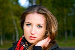 Close-up portrait of young woman Royalty Free Stock Images