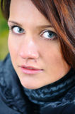 Close up portrait of a young woman Stock Image