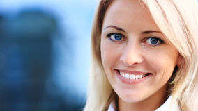 Close up portrait of young woman in business Stock Photos
