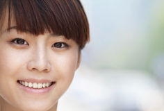 Close-up portrait of young woman smiling in Beijing Royalty Free Stock Photo