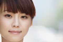Close-up portrait of young woman smiling in Beijing Stock Images