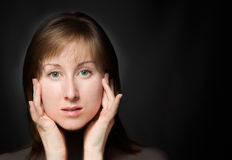 Close-up portrait of a young women Royalty Free Stock Image