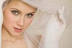 Close-up portret of bride Royalty Free Stock Photo