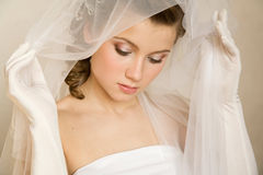 Close-up portret of bride Stock Images