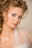 Close up portret of bride Royalty Free Stock Photo