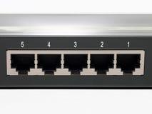 close up portuário do interruptor 5 em plugues Imagem de Stock Royalty Free