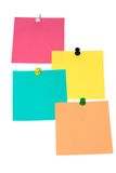 Close up of post-it. Close up of post it reminders on white background Royalty Free Stock Photography