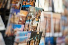 Close up of postcards of Florence stock photo