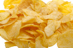 Close-up potato chips Royalty Free Stock Image
