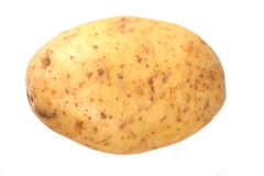 Close up of potato on white background Royalty Free Stock Photos