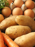 Close up of potatoes stock images