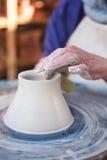 Close-up of potter making pot Stock Photos