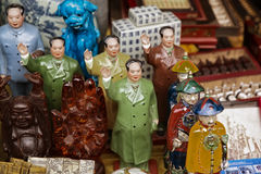 Close up of pottery Chairman Mao Royalty Free Stock Photography
