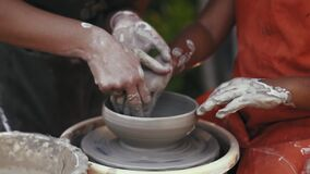 Close-up, Pottery Lesson in the Park