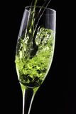 Close up of pouring champagne Royalty Free Stock Photo
