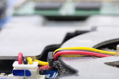 Close up of power cable on computer Stock Photography