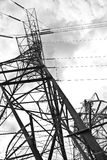 Close-up Power lines Royalty Free Stock Image