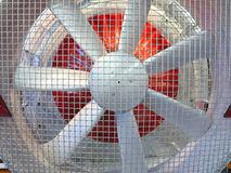 Close up of powerful large industrial fan turbine Stock Image