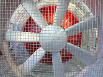 Close up of powerful large industrial fan turbine Stock Photo