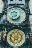 Close up of Prague Astronomical Clock Stock Image