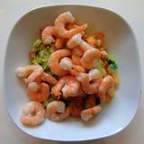 Healthy Prawn Salad stock photography