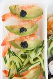 Close-up of prawn sushi Stock Photo