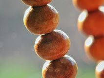 Close up prayer beads under sunlight stock photos