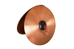 Close up of an prcussion cymbals Stock Photos