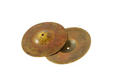 Close up of an prcussion cymbals Stock Images