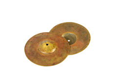 Close up of an prcussion cymbals Stock Image