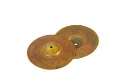 Close up of an prcussion cymbals Royalty Free Stock Photography