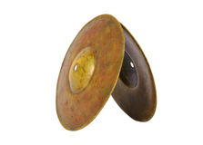 Close up of an prcussion cymbals Royalty Free Stock Photo