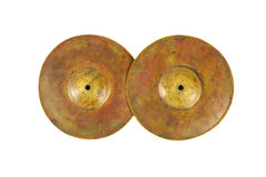 Close up of an prcussion cymbals Stock Photo
