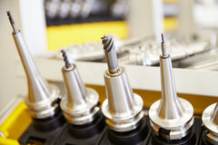 Close Up Of Precision Tools Used On CNC Machinery Royalty Free Stock Photography