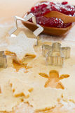 Close up of preparing gingerbread cookies for christmas Stock Photography