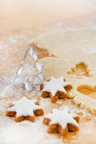 Close up of preparing gingerbread cookies for christmas Stock Photos