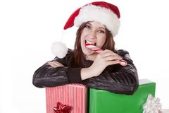 Close up presents peppermint Royalty Free Stock Images