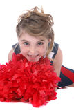 Close up of pretty cheerleader girl Royalty Free Stock Image