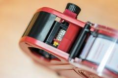 Close up pricing gun. Close up red pricing gun Royalty Free Stock Photo