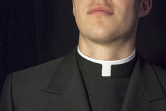Close-up of Priest collar Stock Photos