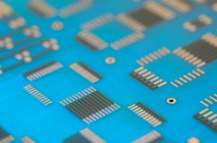 Close up printed circuit board royalty free stock photo