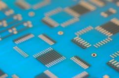 Close up printed circuit board Royalty Free Stock Photo