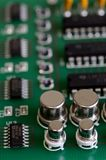 Close up printed circuit board with components Royalty Free Stock Photography